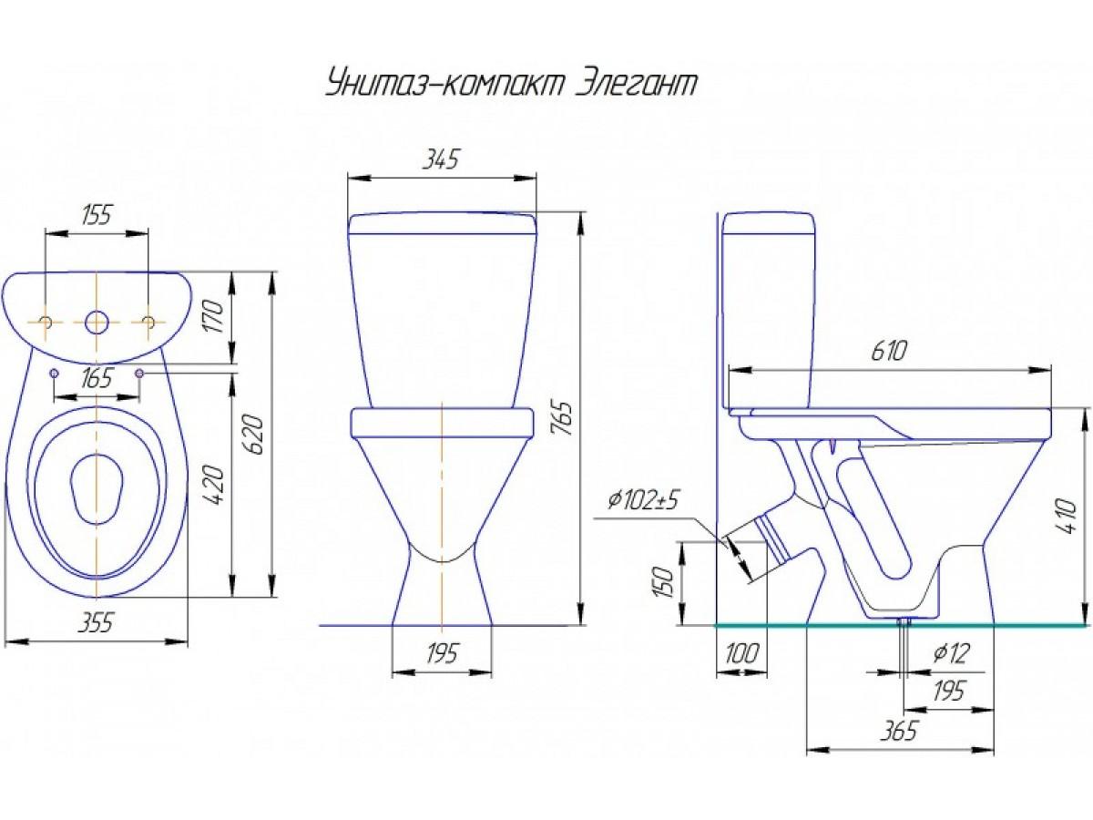 Схема крепления сиденья к унитазу